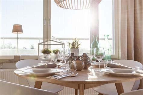 Warm Interior Atmosphere With Scandinavian Dining Room
