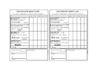 daily report card template for adhd 25 best ideas about behavior report on