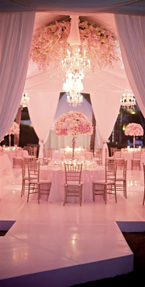 Pale Pink Wedding Decor by The Best Wedding Receptions And Ceremonies Of 2012