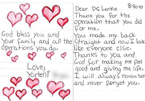 expressions gratitude lawrence lenke md