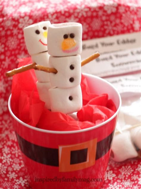 easy christmas party favors easy favor build your edible snowman kit inspired by family