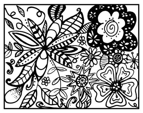 zentangle coloring pages printable zendoodle zentangle printable coloring page whimsical floral