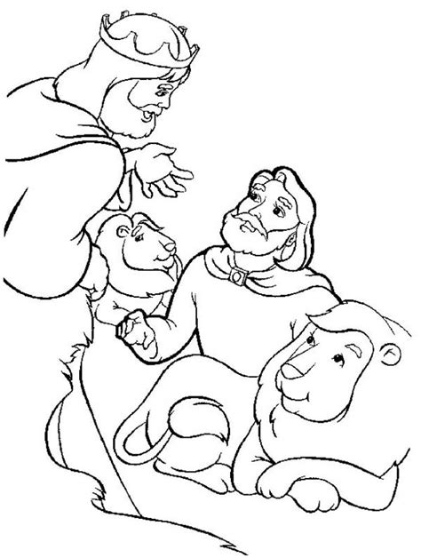 daniel and the lions den coloring page coloring pages