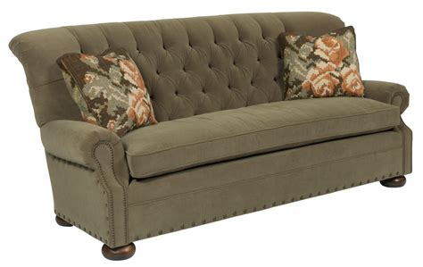 traditional button tufted sofa kincaid furniture spencer 676 86 traditional 86 inch