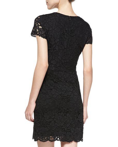 Lace Sleeve V Neck Sheath Dress dkny sleeve v neck lace sheath dress