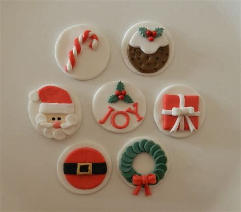 christmas edible cupcake toppers sugar spice cupcakes