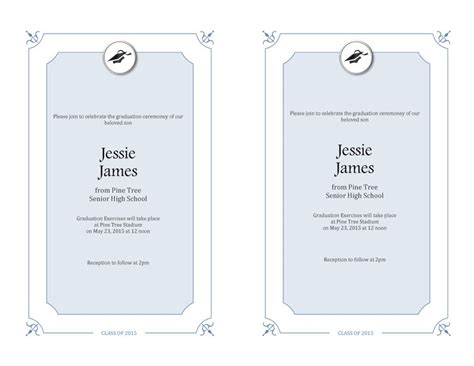 invitation layout for graduation 40 free graduation invitation templates template lab