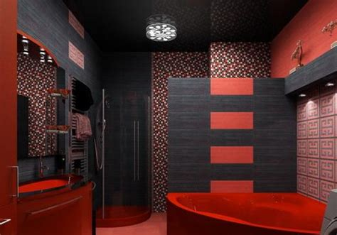 Red And Black Bathroom Decor » Home Design 2017