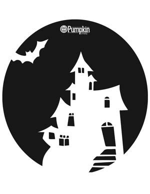 printable haunted house pumpkin stencils haunted house pumpkin pattern