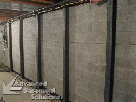 bowed basement wall repair cost bowed wall repair advanced basement solutions