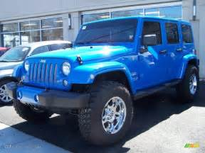 2011 cosmos blue jeep wrangler unlimited 4x4