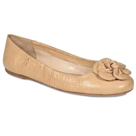 designer shoes flats prada s designer shoes nappa leather beige flat