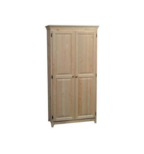 36 Inch Pantry Cabinet by 36 Inch Afc 2 Door Pantry 72 Quot H Bare Wood Wood