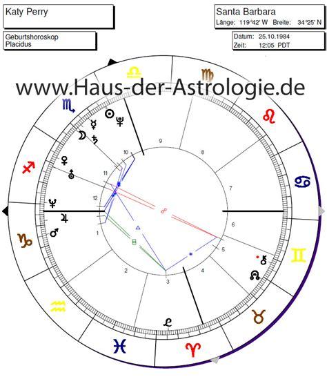 horoskop haus der astrologie berufshoroskop katy perry