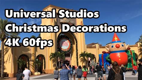universal studios christmas decorations in 4k 60fps