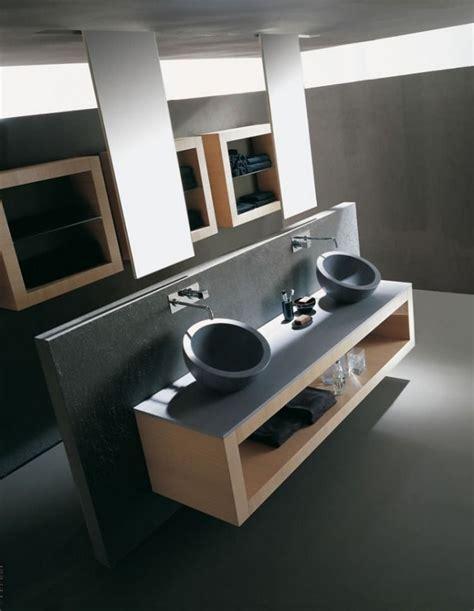 Moderne Waschbecken 75 by Doppelter Waschtisch Mit Aufsatzwaschbecken Aus Grauem