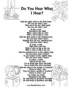 Do you hear what i hear free printable christmas carol lyrics