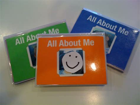 All About by Creative Nanny Wednesday All About Me Book Regarding