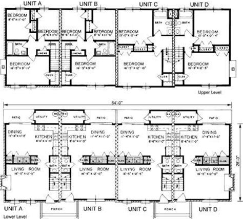 quadruplex house plan house design plans