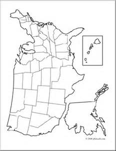 unlabeled united states map clip united states map coloring page blank abcteach