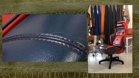 Sewing Car Upholstery by A Customized Office Chair In Leather Basic Sewing Seams