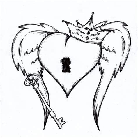 40 Id 233 Es De Mod 232 Le De Tatouage 224 Motifs Diff 233 Rents Gratuit Coeur Avec Ailes Couronne Et Cle Idee De Tatouage Interessante