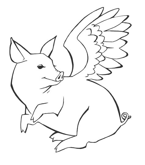 flying pig coloring page flying pig tattoo by sage666 on deviantart