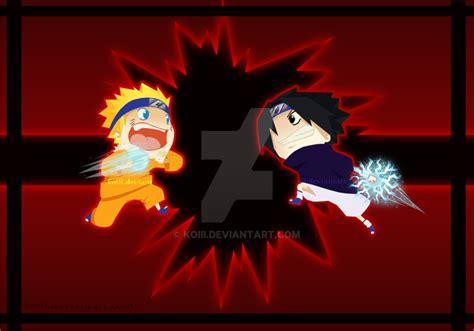 naruto battle chibi battle naruto vs sasuke by koiii on deviantart