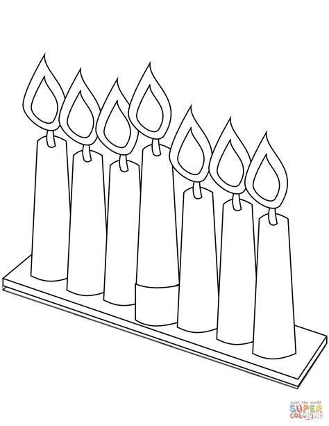 coloring pages for kwanzaa candle holder seven candles for kwanzaa coloring page free printable