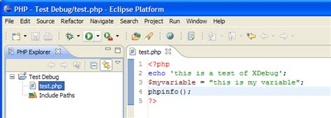 test php configuring eclipse for joomla development joomla
