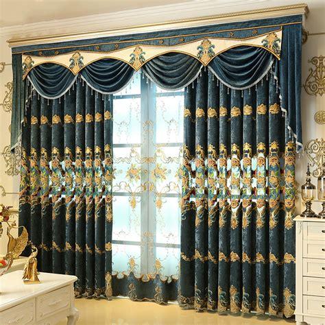 window curtains store aliexpress com buy luxury bule blackout window curtains