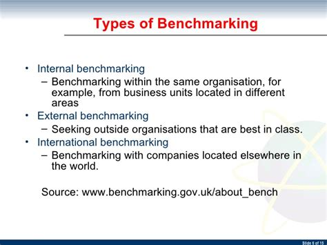types of bench mark bpr 04 benchmarking