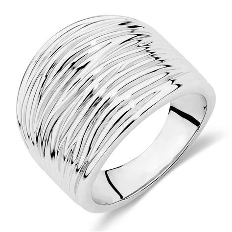wproductname ide patterned ring in sterling silver by