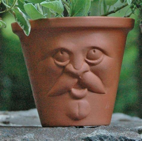 flower pots with faces on them 28 pots with faces on them face plant herb pots ceramic