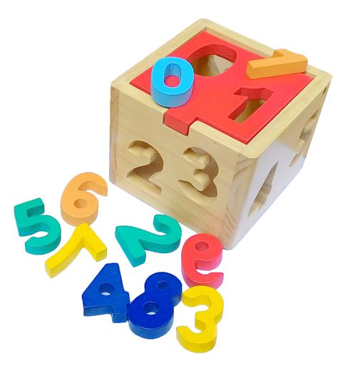 Mainan Anak Rumah Angka Kotak Pas Sorting Mainan Edukasi Anak kotak angka 1 9 mainan kayu