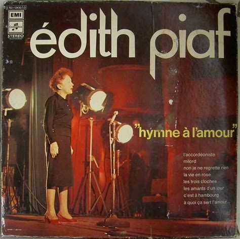 L A Records Edith Piaf Hymne 224 L Amour Ric Vintage Records Shop