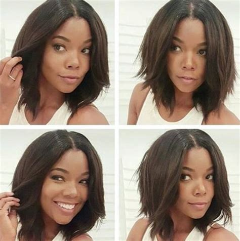 middle part shoulder length hairstyles for black women 20 trendy bob hairstyles for black women styles weekly
