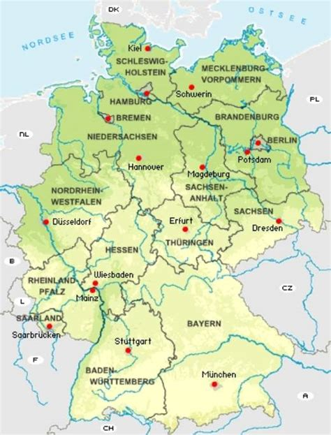germany country map capital germany map