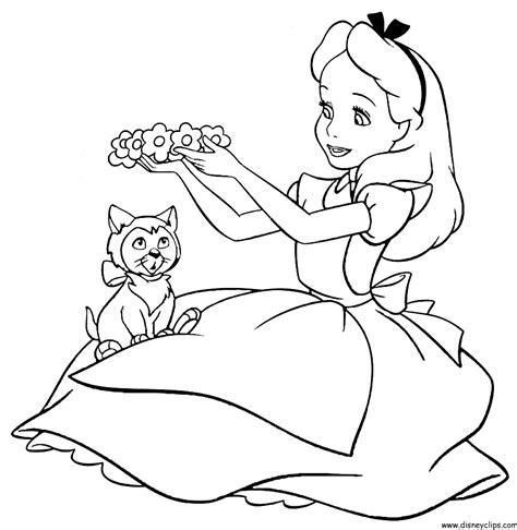 printable pictures alice in wonderland alice in wonderland coloring pages to download and print