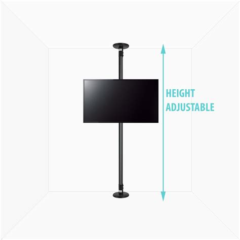 Tv Bracket Adjustable Up And 1 4m Thick 400 X 400 Pitch 7 0c T30 4 b tech btftc 2m s blk ceiling mounts