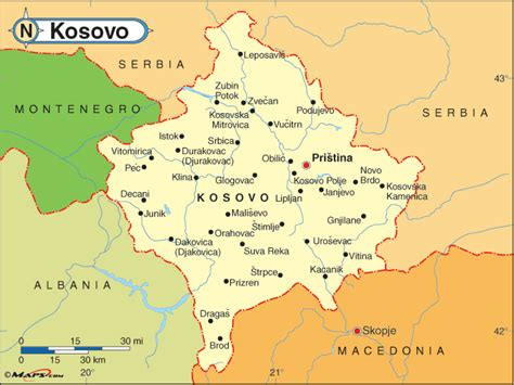 kosovo on a map prizren kosovo map