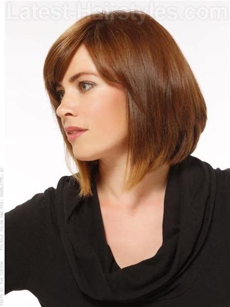 highlights for long bobs fat faces creative colors a line bob with highlights side view