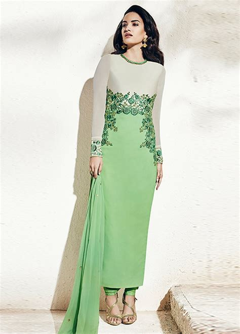 pista color buy pista green color georgette wear cut