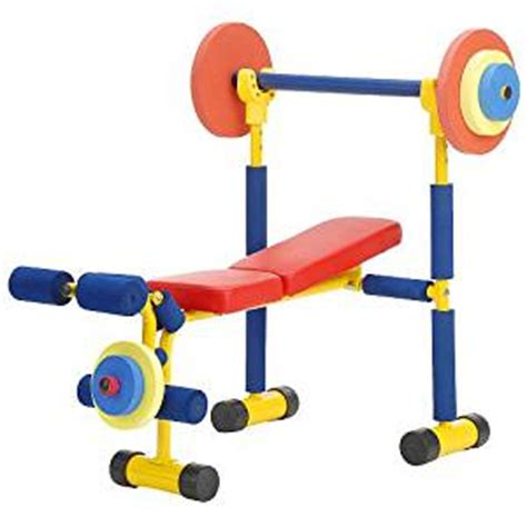 kids toy weight bench amazon com redmon fun and fitness exercise equipment for