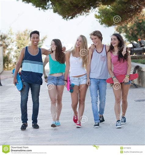 group  diverse teens  holiday stock photo image