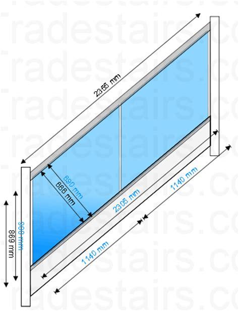 Iron Stair Banister Glass Balustrade Panels Design Order Online Toughened