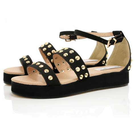 black sandals black leather style flatform sandals buy black leather