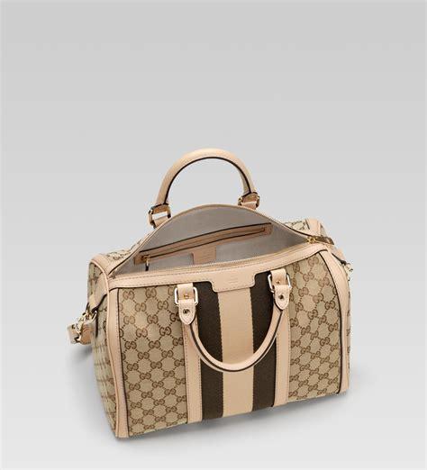 Gucci Boston 2015 Condition Complete Set lyst gucci vintage web boston bag in brown