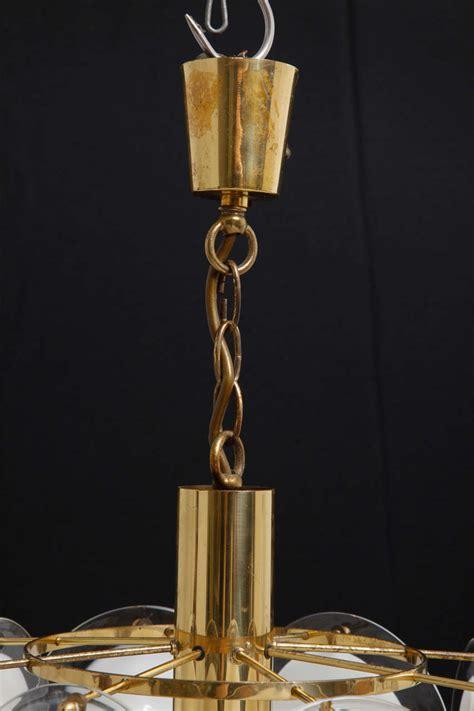 vistosi chandelier vistosi disc chandelier murano italy at 1stdibs