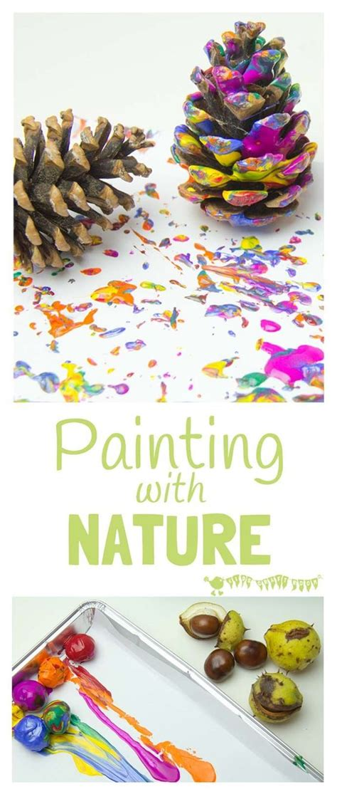 patterns in nature kindergarten lesson painting with nature process art nature for kids and